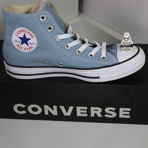 5a8a9682245a Sky Blue Classic Converse All Star High Tops